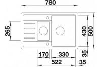 Комплект BLANCO LEGRA 6 S COMPACT антрацит + BLANCO DARAS антрацит (521302+ 517721)