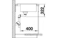 Комплект BLANCO RIONA 45 антрацит + BLANCO MIDA антрацит (521396 + 519415)