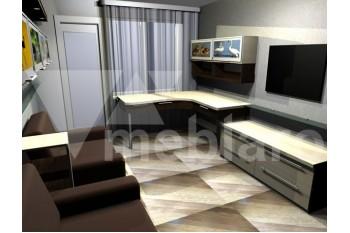 Набор мебели в гостиную с фотопечатью