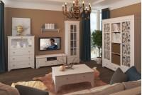 Белый набор мебели для гостиной