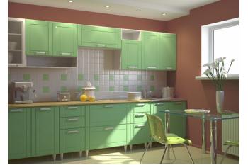 Фисташковый кухонный гарнитур