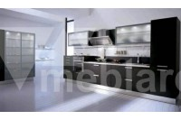 Стильная линейная кухня