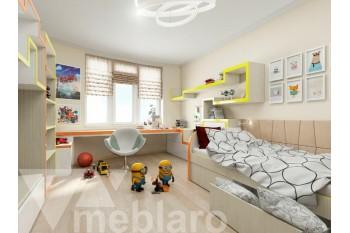 Большой светлый набор мебели для детской