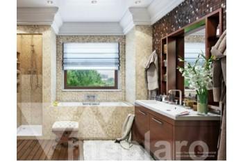 Мебель для ванной со встроенным стеллажом