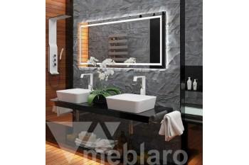 Подвесная столешница и зеркало с подсветкой