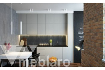 Линейная белая кухня