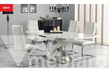 Обеденный стол Sandor 2 белый, стулья К231