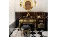 Мебель для ванной в золотом цвете